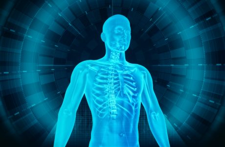Medical Human Body Scan - Man and Technology